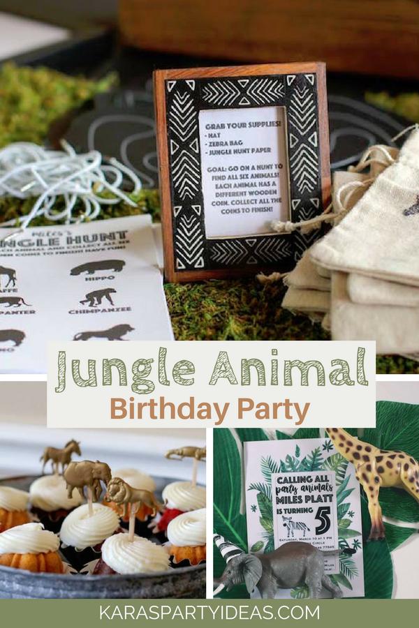 Jungle Animal Birthday Party via KarasPartyIdeas - KarasPartyIdeas.com