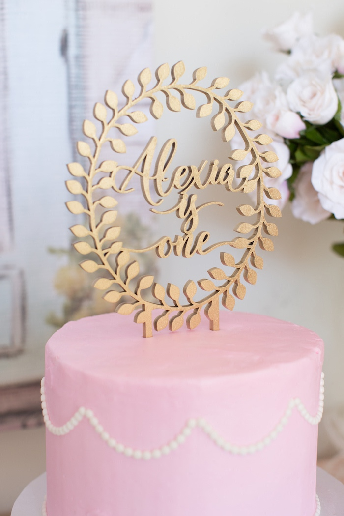Wooden Cake Topper from a Ladurée Inspired Tea Party on Kara's Party Ideas | KarasPartyIdeas.com (14)