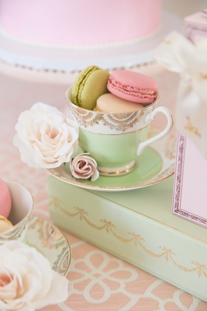Macaron Tea Cup from a Ladurée Inspired Tea Party on Kara's Party Ideas | KarasPartyIdeas.com (12)