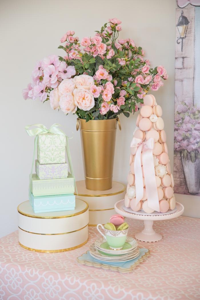 Sweet Table Detail from a Ladurée Inspired Tea Party on Kara's Party Ideas | KarasPartyIdeas.com (7)