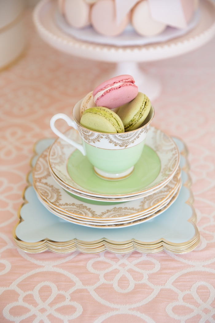 Elegant Partyware from a Ladurée Inspired Tea Party on Kara's Party Ideas | KarasPartyIdeas.com (6)