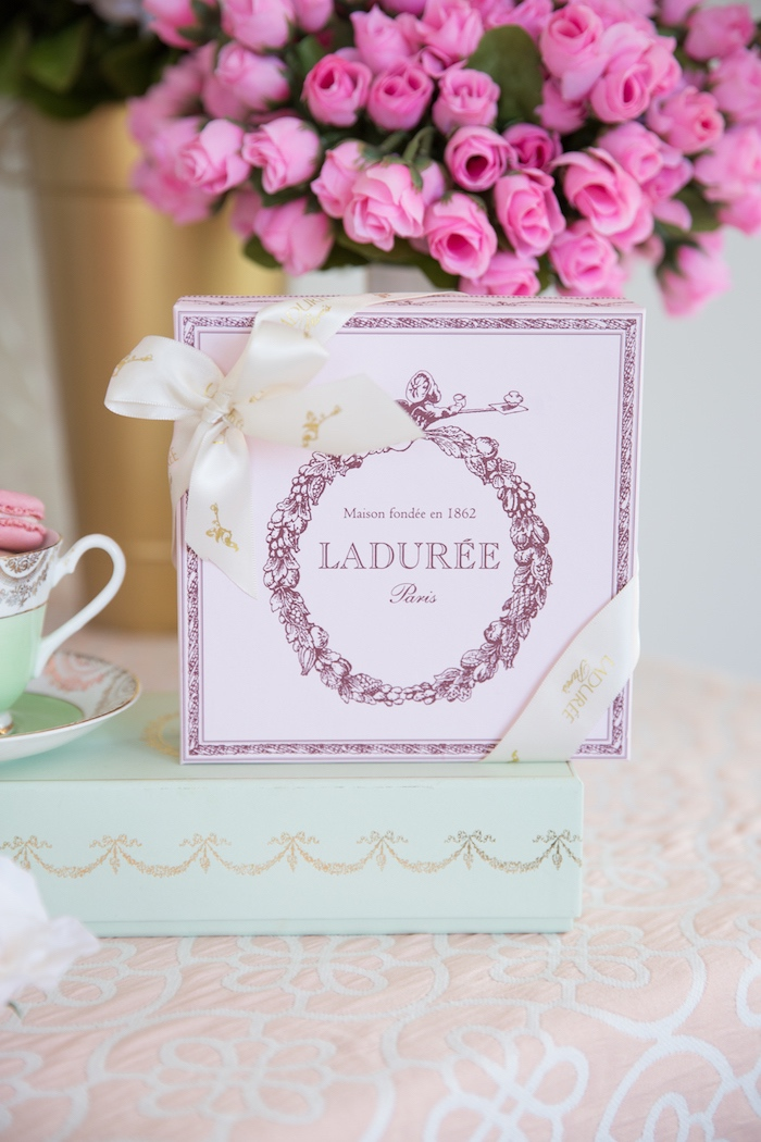 Ladurée Box from a Ladurée Inspired Tea Party on Kara's Party Ideas | KarasPartyIdeas.com (24)