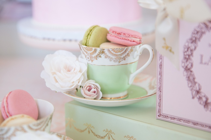 Macaron Tea Cup from a Ladurée Inspired Tea Party on Kara's Party Ideas | KarasPartyIdeas.com (22)