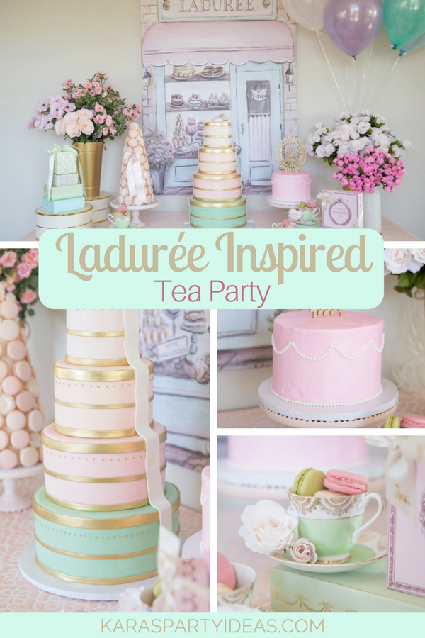 Ladurée Inspired Tea Party via Kara's Party Ideas - KarasPartyIdeas.com