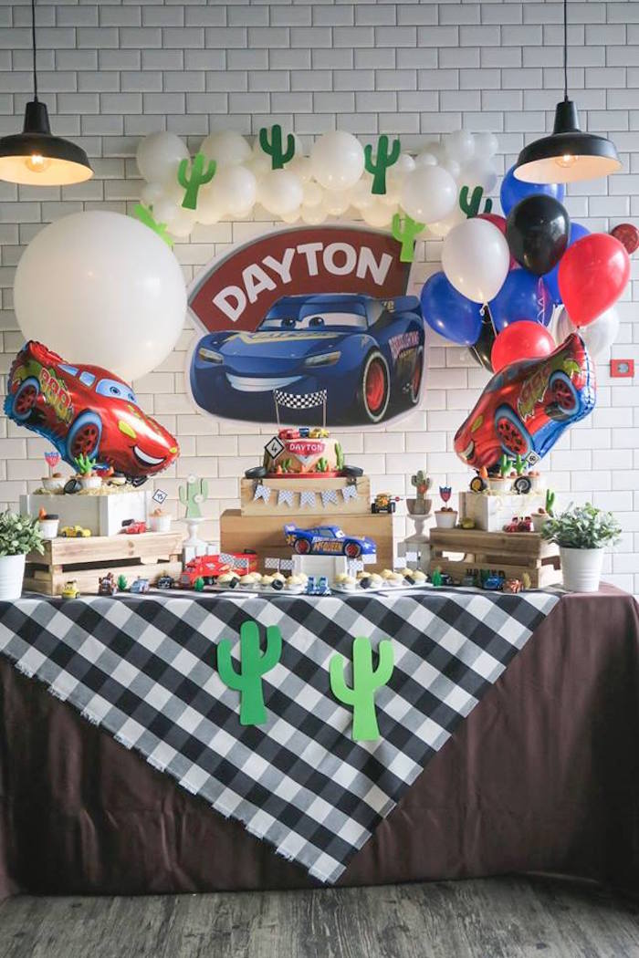 Lightning McQueen Cars Birthday Party on Kara's Party Ideas | KarasPartyIdeas.com (17)