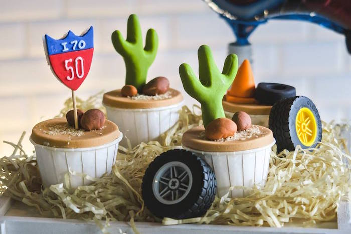 Cactus Cupcakes from a Lightning McQueen Cars Birthday Party on Kara's Party Ideas | KarasPartyIdeas.com (14)