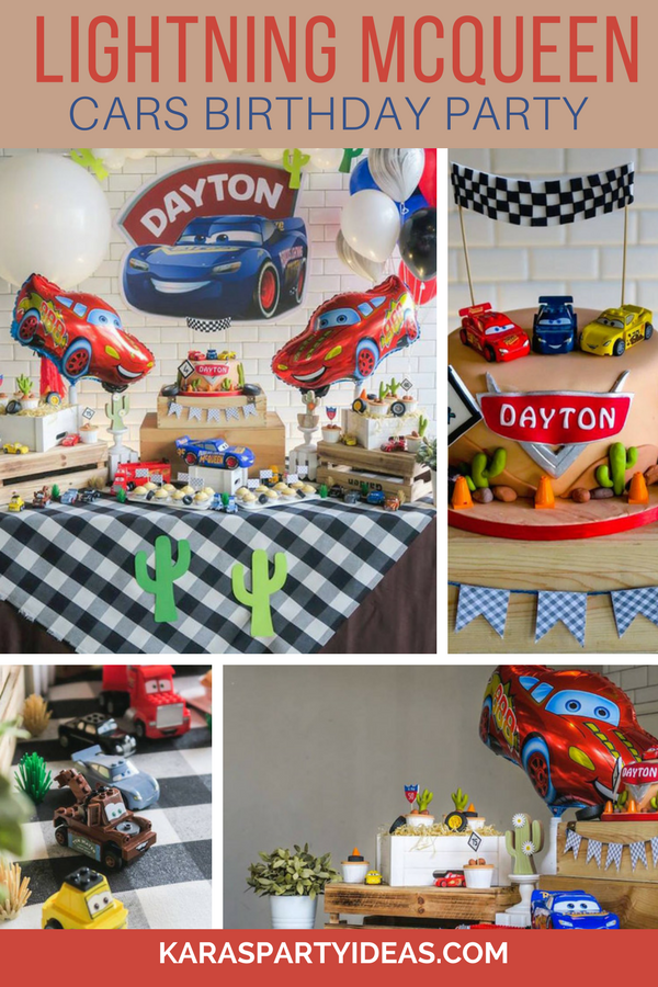 Lightning McQueen Cars Birthday Party via Kara's Party Ideas - KarasPartyIdeas.com