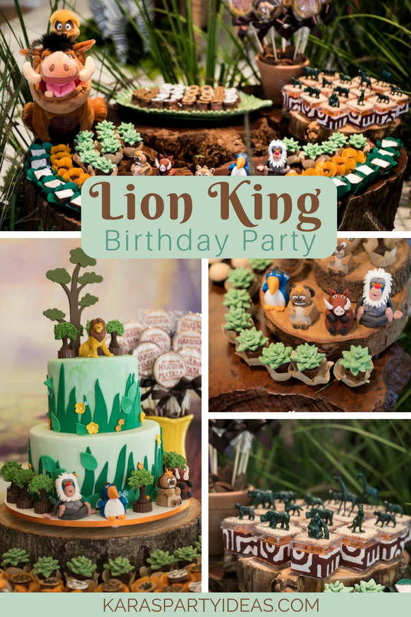 Lion King Birthday Party via KarasPartyIdeas - KarasPartyIdeas.com