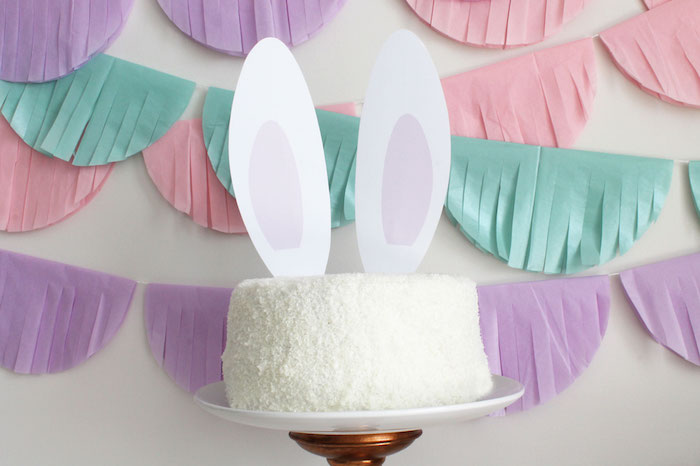 Bunny Cake from a Little Bunny Party on Kara's Party Ideas | KarasPartyIdeas.com (6)