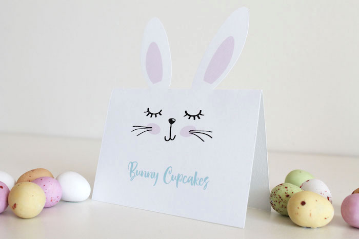 Bunny Dessert Label from a Little Bunny Party on Kara's Party Ideas   KarasPartyIdeas.com (19)