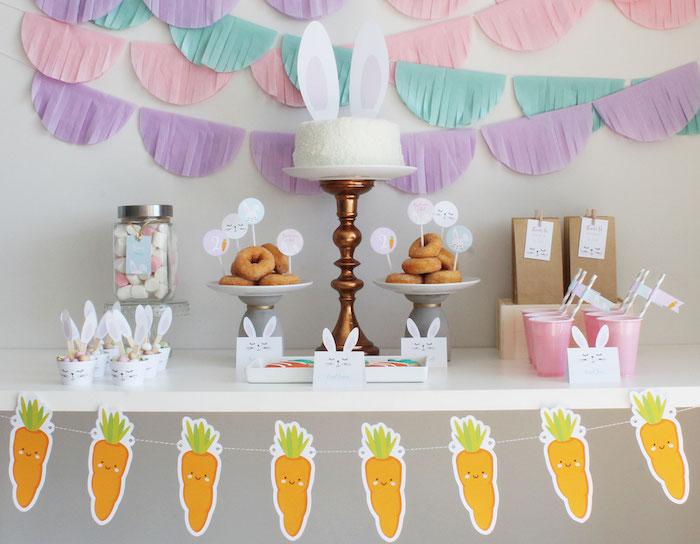 Little Bunny Party on Kara's Party Ideas | KarasPartyIdeas.com (18)