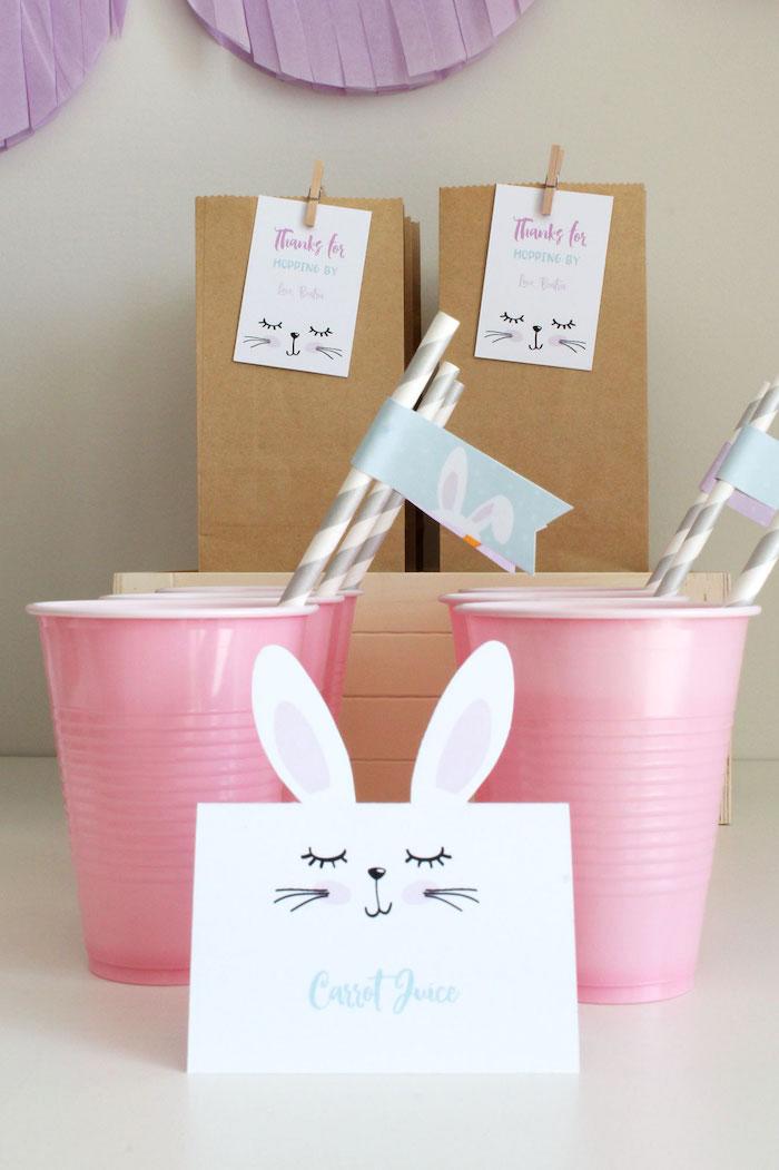 Carrot Juice from a Little Bunny Party on Kara's Party Ideas | KarasPartyIdeas.com (15)
