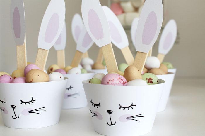 Bunny Candy Cups from a Little Bunny Party on Kara's Party Ideas   KarasPartyIdeas.com (12)