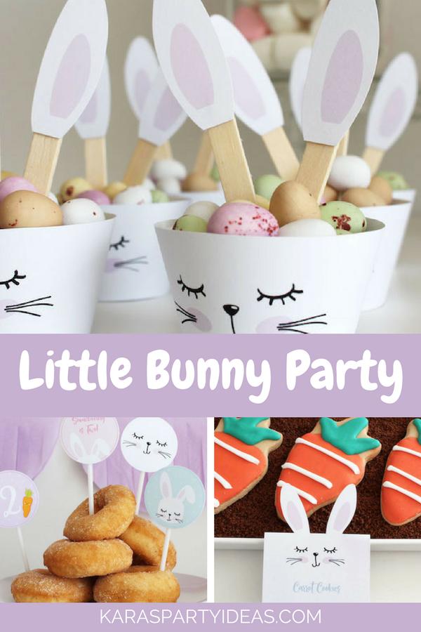Little Bunny Party via KarasPartyIdeas - KarasPartyIdeas.com
