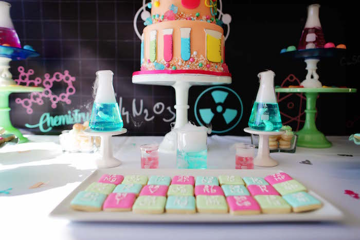 Periodic Table Cookies from a Mad Science Birthday Party on Kara's Party Ideas | KarasPartyIdeas.com (24)