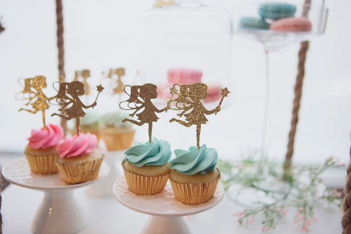 Glam Fairy Cupcakes from a Magical Fairy Birthday Party on Kara's Party Ideas | KarasPartyIdeas.com (22)