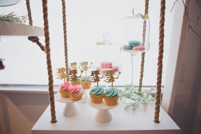 Swing Dessert Table from a Magical Fairy Birthday Party on Kara's Party Ideas | KarasPartyIdeas.com (21)