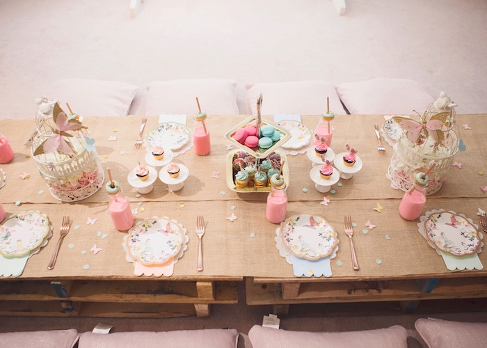 Fairy Guest Table from a Magical Fairy Birthday Party on Kara's Party Ideas | KarasPartyIdeas.com (16)