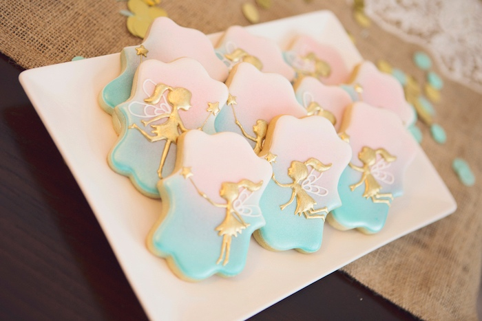 Glam Fairy Cookies from a Magical Fairy Birthday Party on Kara's Party Ideas | KarasPartyIdeas.com (15)