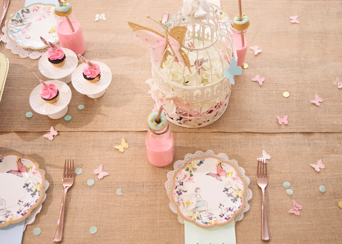 Guest Tabletop from a Magical Fairy Birthday Party on Kara's Party Ideas | KarasPartyIdeas.com (11)