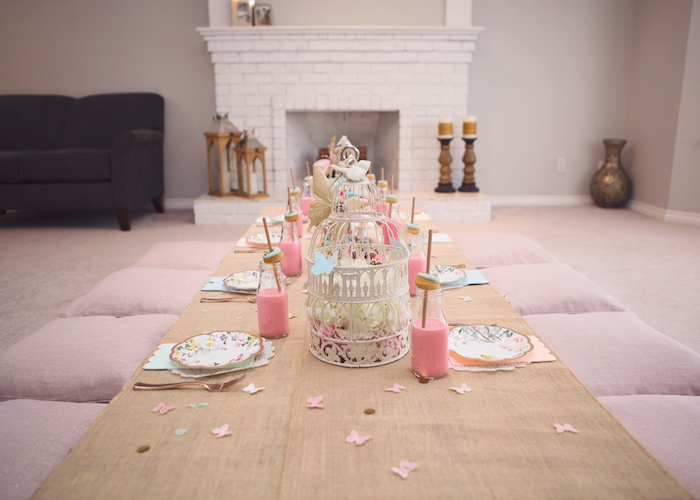 Fairy-inspired Guest Table from a Magical Fairy Birthday Party on Kara's Party Ideas | KarasPartyIdeas.com (31)