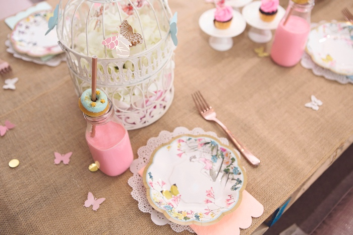 Fairy Themed Table Setting from a Magical Fairy Birthday Party on Kara's Party Ideas | KarasPartyIdeas.com (30)