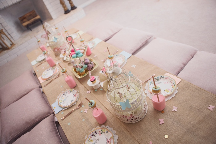 Fairy-inspired crate guest table from a Magical Fairy Birthday Party on Kara's Party Ideas | KarasPartyIdeas.com (28)