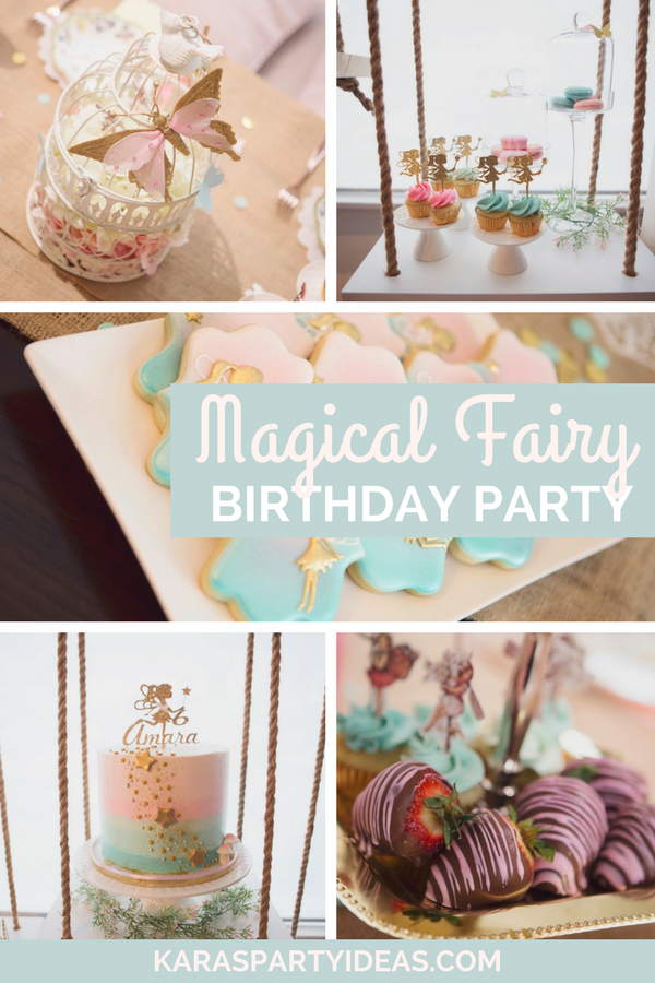 Magical Fairy Birthday Party via Kara's Party Ideas - KarasPartyIdeas.com