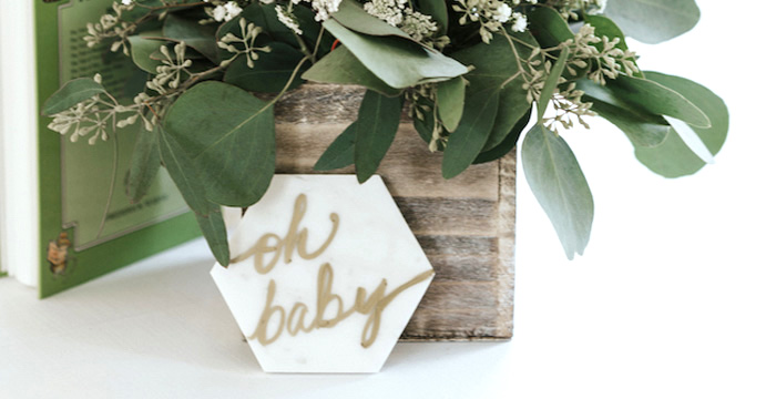 Kara S Party Ideas Marbled Modern Woodland Baby Shower