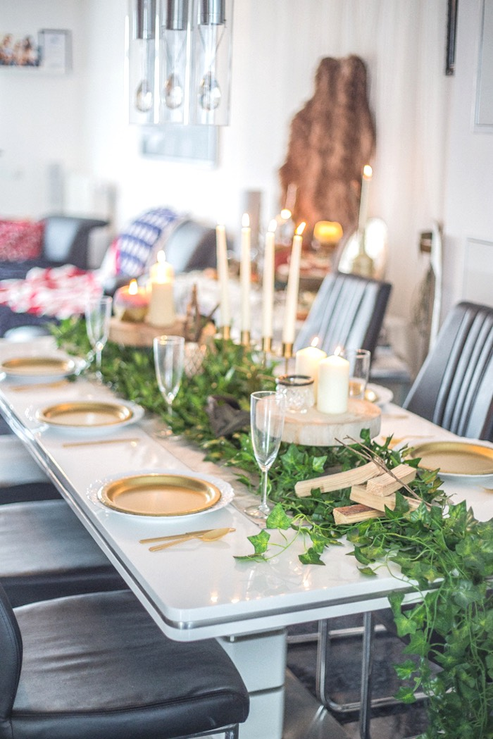 Guest Table from a Medieval Wonder Woman Inspired Party on Kara's Party Ideas | KarasPartyIdeas.com (11)