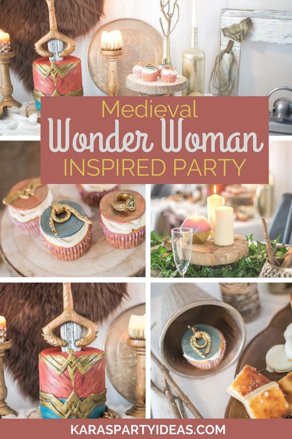 Medieval Wonder Woman Inspired Party via KarasPartyIdeas - KarasPartyIdeas.com