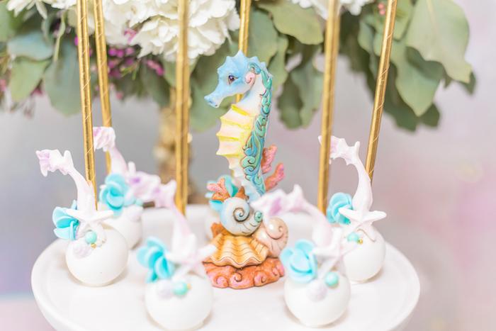 Mermaid Fin Cake Pops from a Mermaid Under the Sea Birthday Party on Kara's Party Ideas | KarasPartyIdeas.com (28)