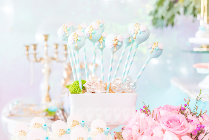 Seahorse Cake Pops from a Mermaid Under the Sea Birthday Party on Kara's Party Ideas | KarasPartyIdeas.com (26)