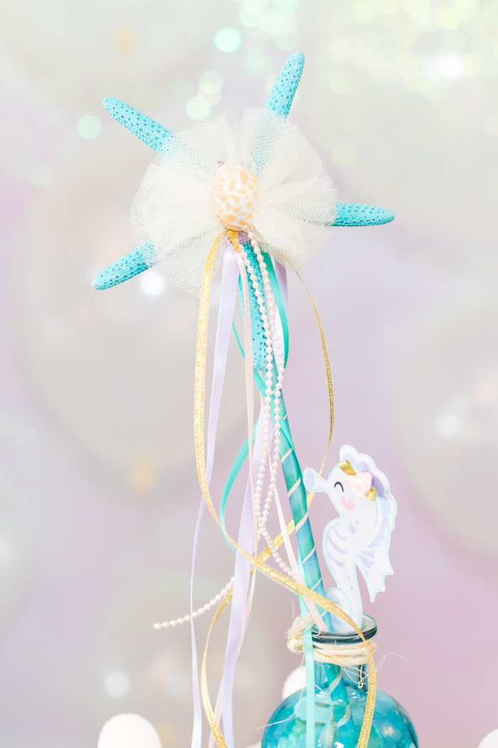 Starfish Tassel Wand from a Mermaid Under the Sea Birthday Party on Kara's Party Ideas | KarasPartyIdeas.com (21)
