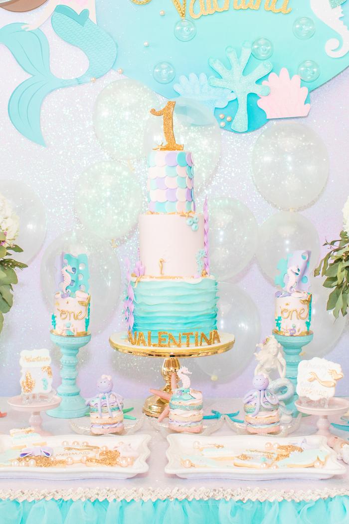 Kara S Party Ideas Mermaid Under The Sea Birthday Party