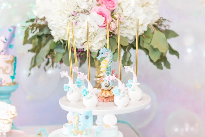 Mermaid Fin Cake Pops from a Mermaid Under the Sea Birthday Party on Kara's Party Ideas | KarasPartyIdeas.com (12)
