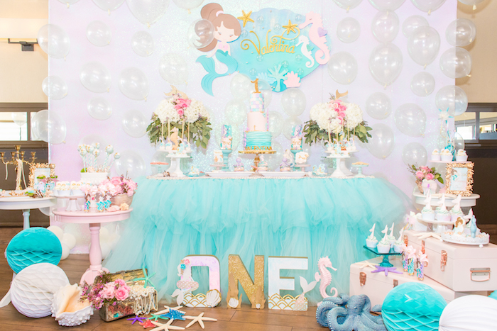 Mermaid Under the Sea Birthday Party on Kara's Party Ideas | KarasPartyIdeas.com (8)