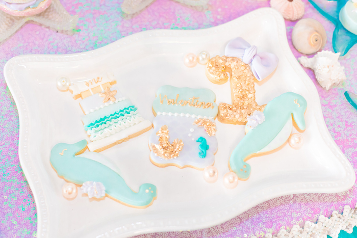 Cookies from a Mermaid Under the Sea Birthday Party on Kara's Party Ideas | KarasPartyIdeas.com (7)