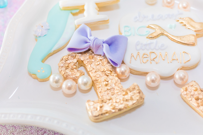 Cookies from a Mermaid Under the Sea Birthday Party on Kara's Party Ideas | KarasPartyIdeas.com (33)