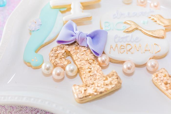 Cookies from a Mermaid Under the Sea Birthday Party on Kara's Party Ideas | KarasPartyIdeas.com (33)