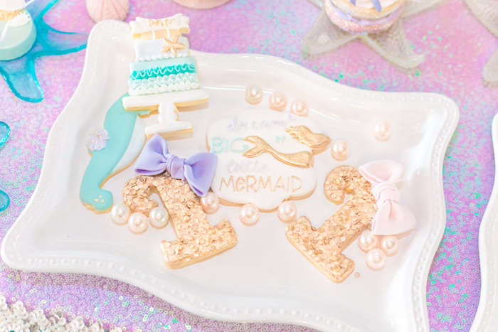 Cookies from a Mermaid Under the Sea Birthday Party on Kara's Party Ideas | KarasPartyIdeas.com (32)