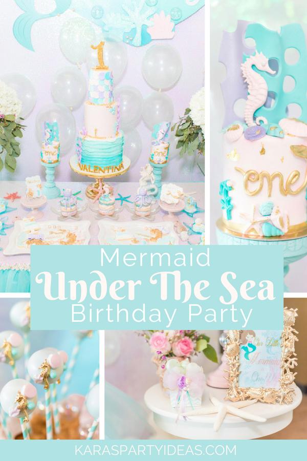 Mermaid Under the Sea Birthday Party via KarasPartyIdeas - KarasPartyIdeas.com