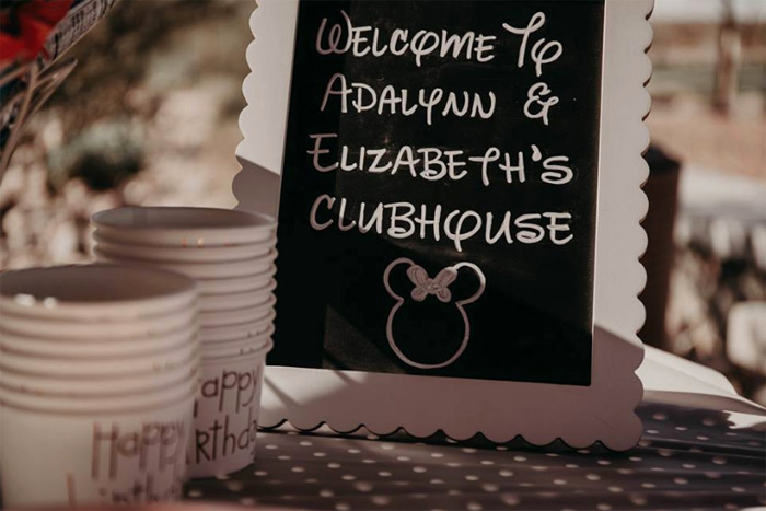 Chalkboard Signage from a Minnie Mouse Clubhouse Birthday Party on Kara's Party Ideas | KarasPartyIdeas.com (8)