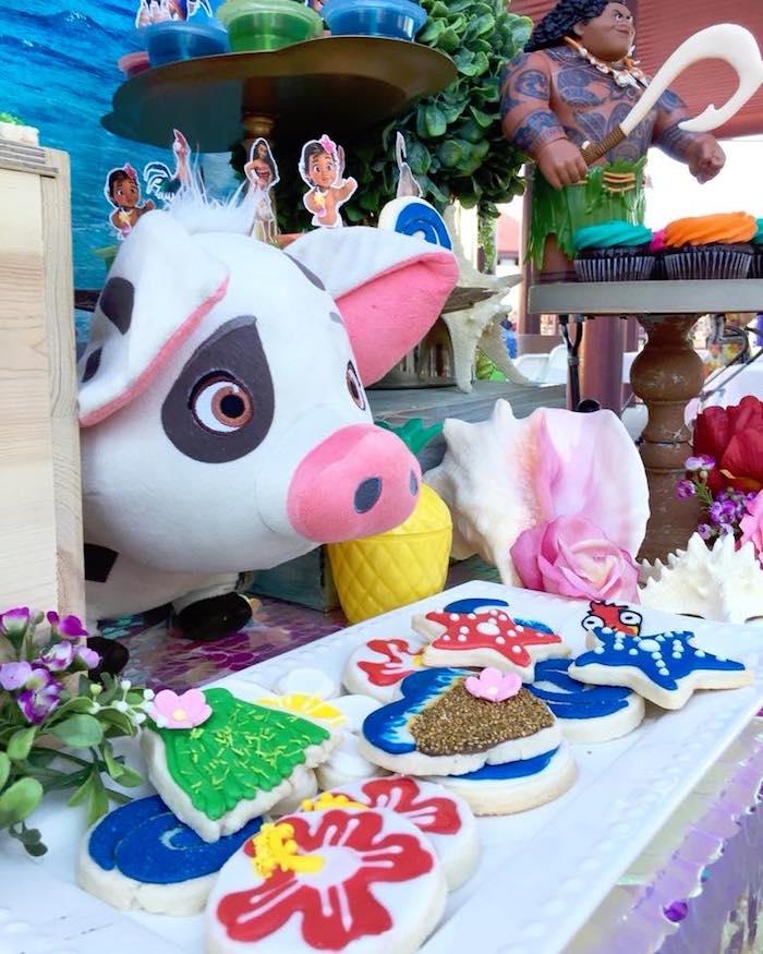 Cookies from a Moana Birthday Party on Kara's Party Ideas   KarasPartyIdeas.com (10)