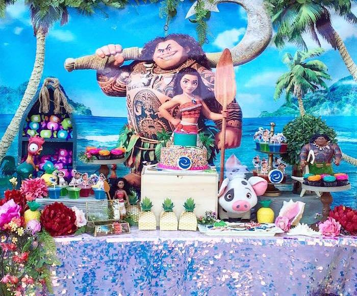 Disney's Moana Themed Dessert Table from a Moana Birthday Party on Kara's Party Ideas | KarasPartyIdeas.com (4)