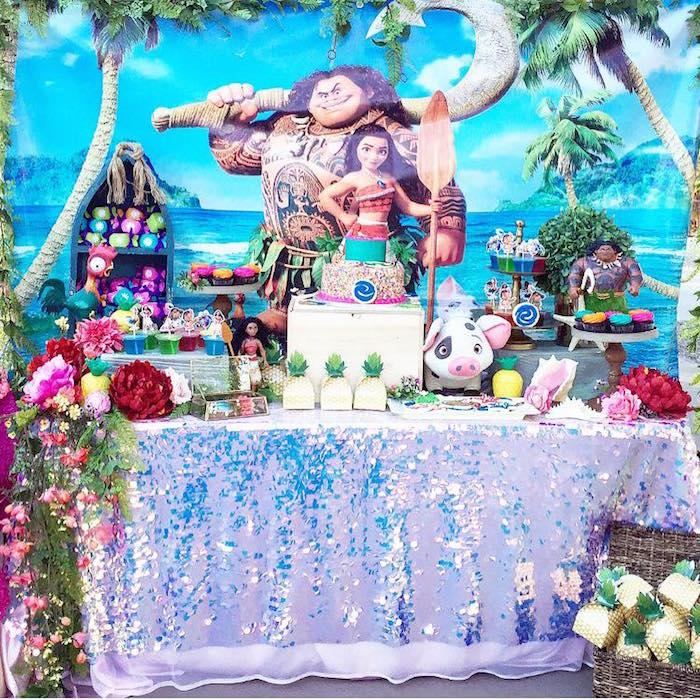 Moana Birthday Party on Kara's Party Ideas   KarasPartyIdeas.com (3)