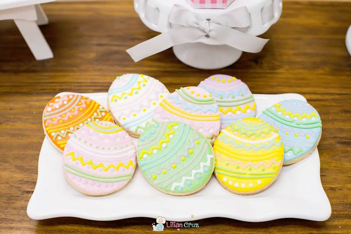 Easter Egg Cookies from a Modern Colorful Easter Party on Kara's Party Ideas | KarasPartyIdeas.com (13)