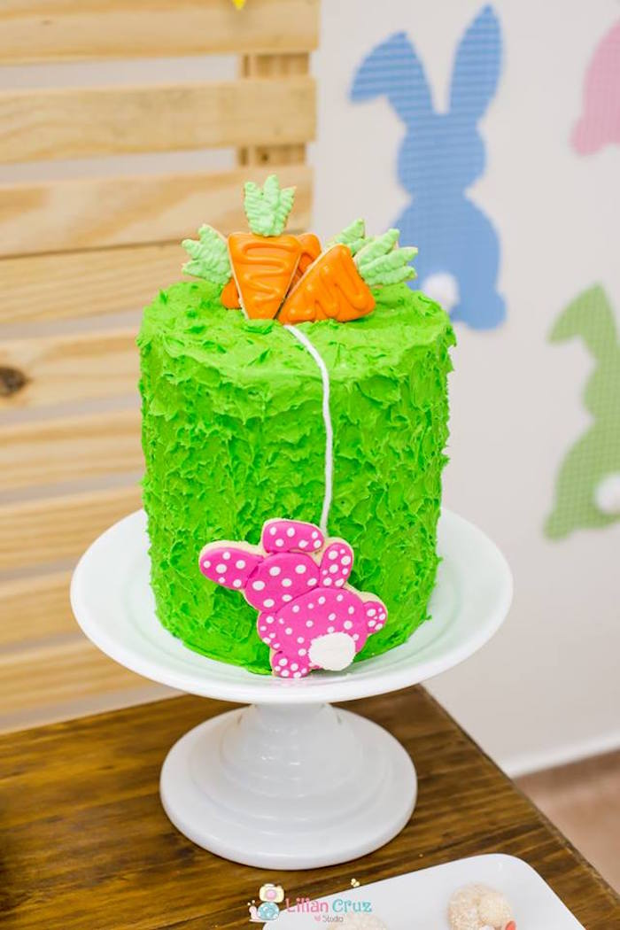 Easter Cake from a Modern Colorful Easter Party on Kara's Party Ideas | KarasPartyIdeas.com (7)