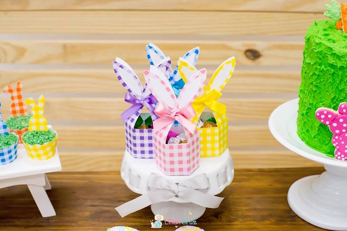 Bunny Eared Favor Boxes from a Modern Colorful Easter Party on Kara's Party Ideas | KarasPartyIdeas.com (24)