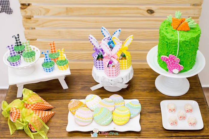 Easter Dessert Table from a Modern Colorful Easter Party on Kara's Party Ideas | KarasPartyIdeas.com (18)